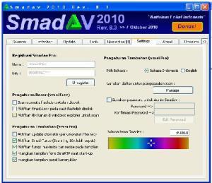 Smadav Pro dengan banyak pilihan warna